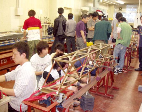 キャンパスライフ 実習 橋の模型実験