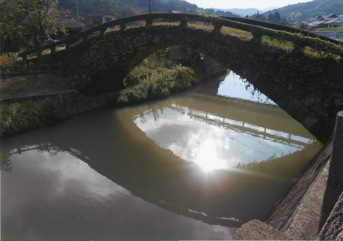 水面に映る橋(平山大貴,熊本県立天草工業高等学校1年生)